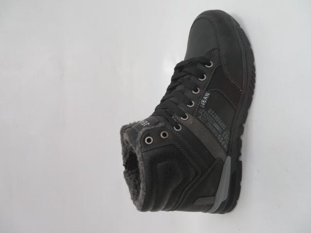 Trzewiki Męskie Zimowe A061-1, Black/Grey, 41-46