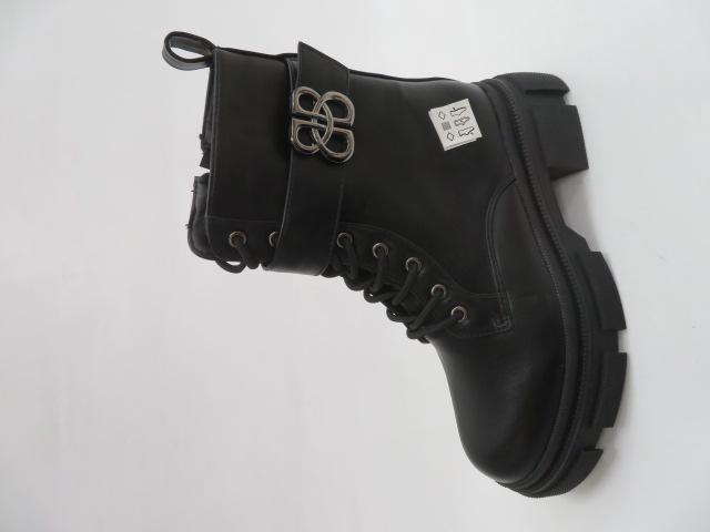 Botki Damskie LM-03, Black/PU, 36-41