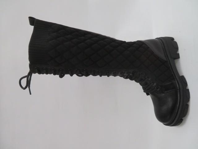 Kozaki Damskie 8393-PG, Black, 36-41