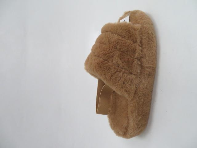 Kapcie Damskie BC69, Camel, 36-41