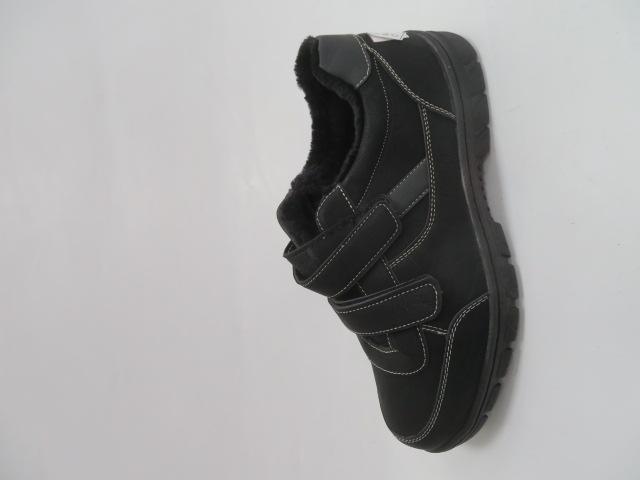 Buty Sportowe Męskie 703-11M, Black/Grey, 40-46