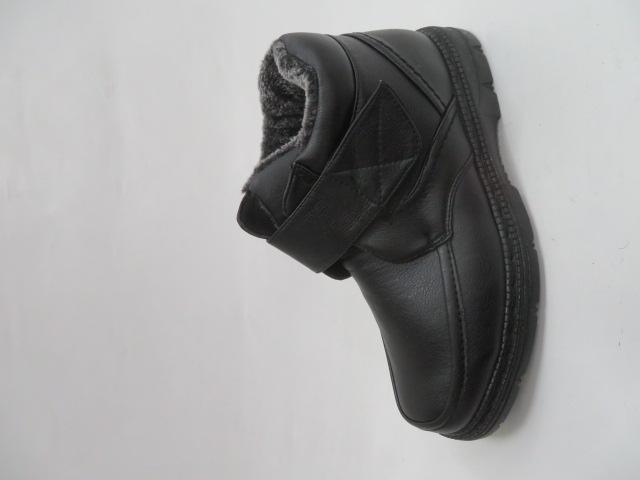 Trzewiki Męskie Zimowe A8607, Black, 40-46
