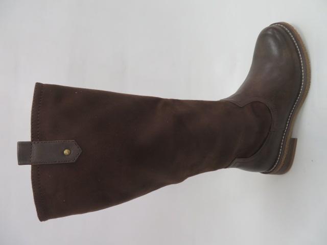 Kozaki Damskie 9695, Brown, 36-41