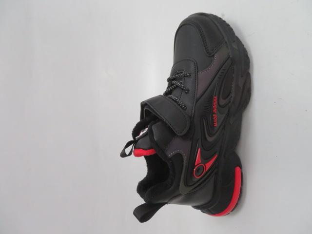 Buty Sportowe Dziecięce P691, Black/Red, 32-37