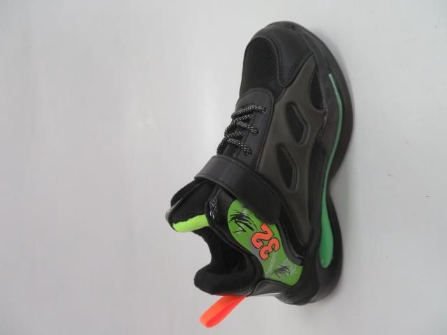 Buty Sportowe Dziecięce P690, Black/Grey, 32-37