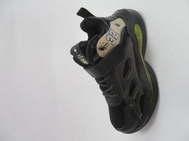 Buty Sportowe Dziecięce P690, Black/Yellow, 32-37