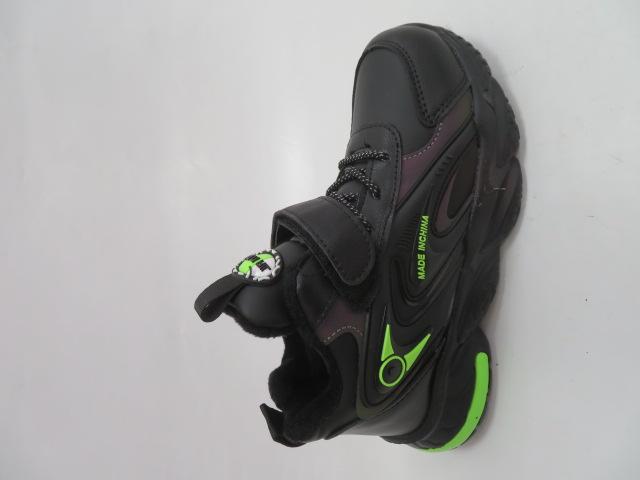 Buty Sportowe Dziecięce P691, Black/Yellow, 32-37