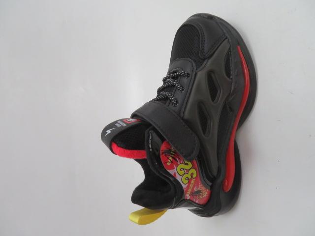 Buty Sportowe Dziecięce P690, Black/Red, 32-37