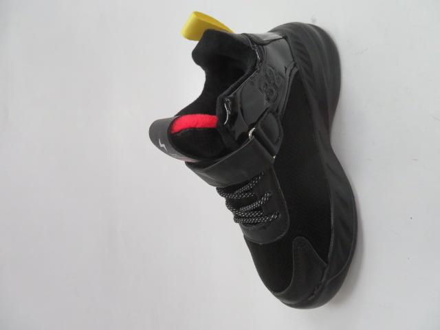 Buty Sportowe Dziecięce P690, Black/Red, 32-37 1