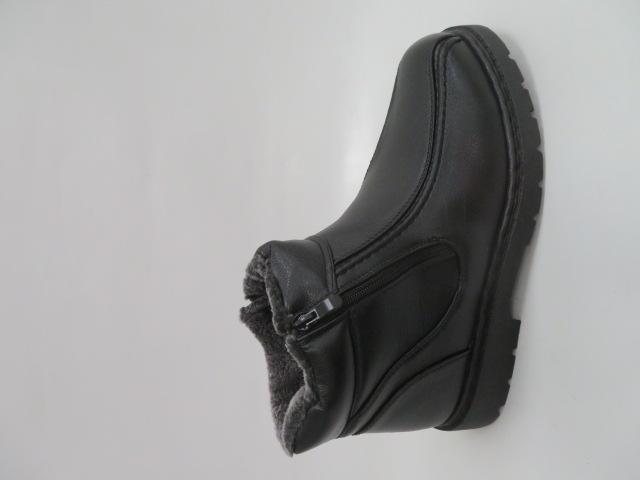 Trzewiki Męskie Zimowe H2030, Black, 40-46