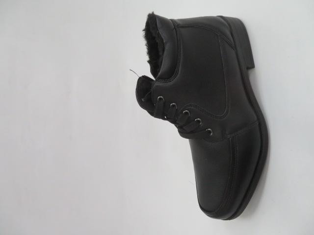 Trzewiki Męskie Zimowe E5605-1, Black, 40-46