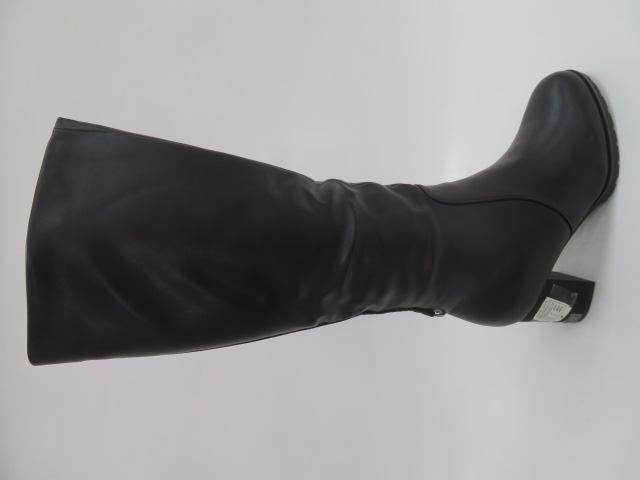 Kozaki Damskie BA112-1, Black, 36-40