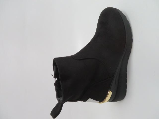 Botki Damskie 9733-1, Black, 36-41