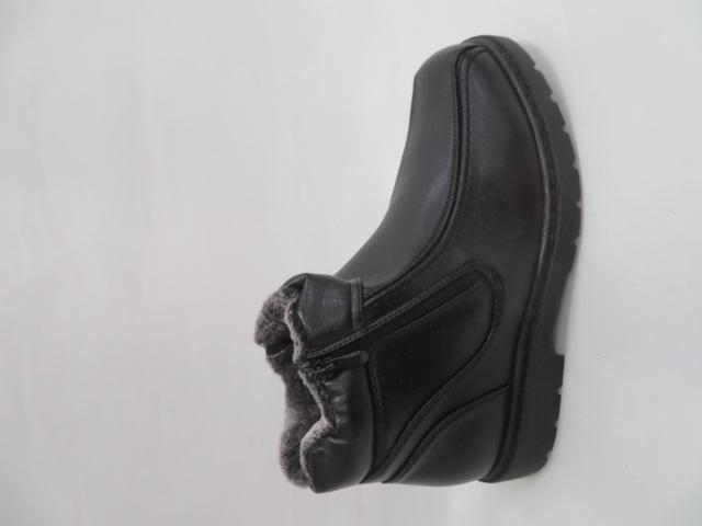 Trzewiki Męskie Zimowe H2030, Black, 41-46