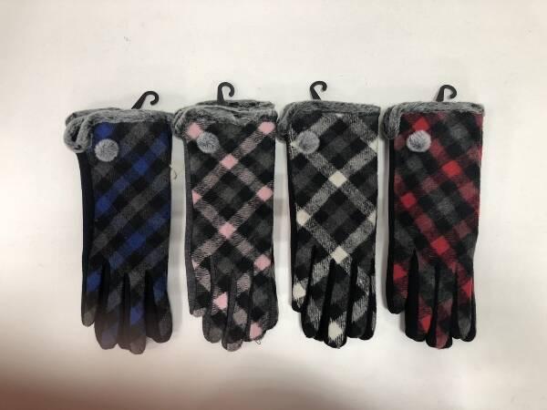Rękawiczki Damskie F4268 MIX KOLOR M/L