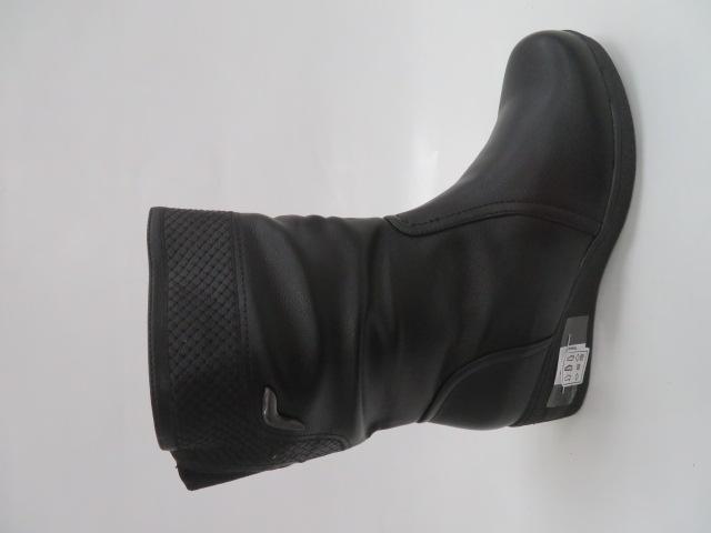 Botki Damskie D88330-61, Black, 39-43