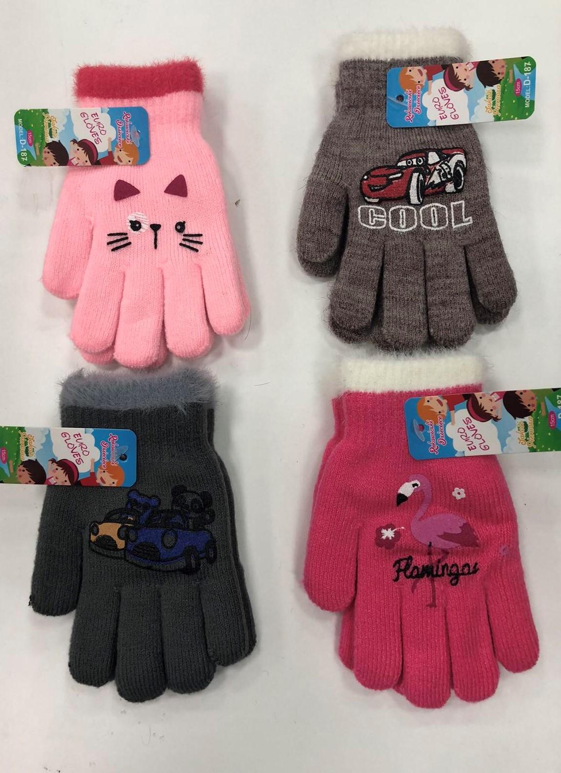 Rękawiczki Dziecięce D187 MIX KOLOR 15CM 2