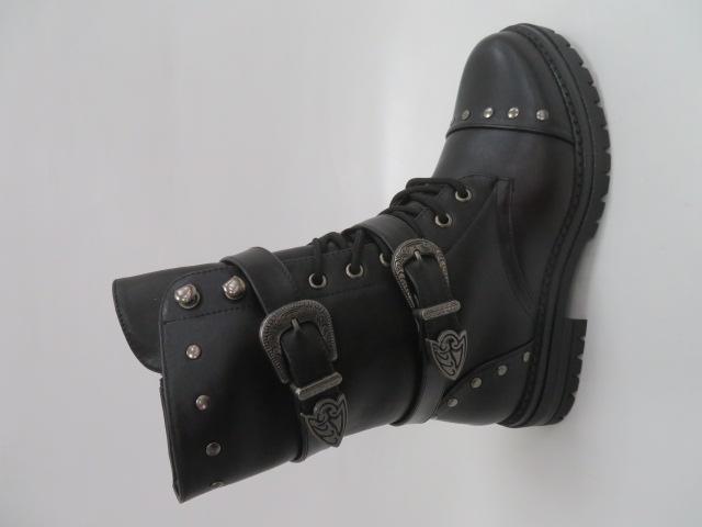 Botki Damskie F19-6096, Black, 36-41