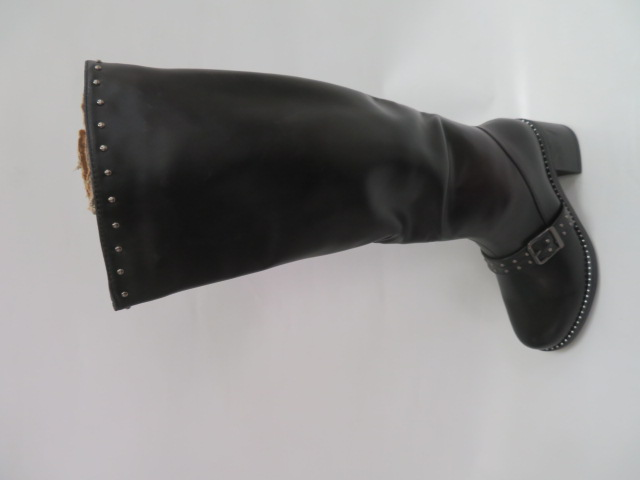 Kozaki Damskie F17-6118, Black, 36-41