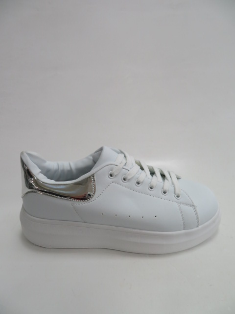 Sportowe Damskie 8060, White/Silver, 36-41