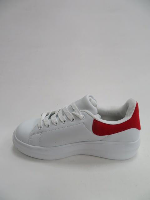 Sportowe Damskie 8060, White/Red, 36-41