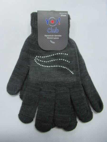 Rękawiczki Damskie R016 MIX KOLOR 21CM