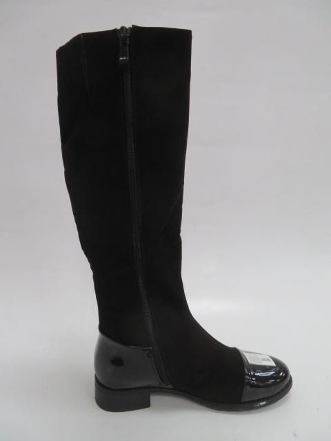 Kozaki Damskie F16006-135, Black, 36-41