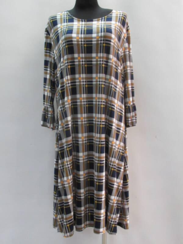 Sukienka Damska F1074 1 KOLOR 46-54 ( Produkt Polski )