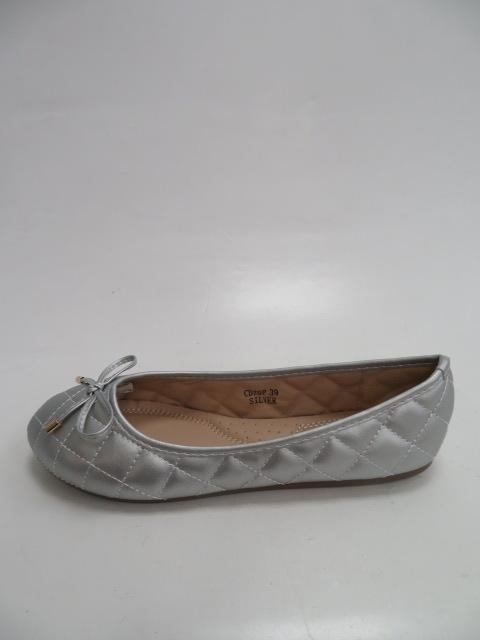 Baleriny Damskie  CD79, Silver, 36-41