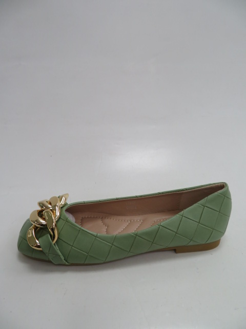 Baleriny Damskie  T390, Green, 36-41