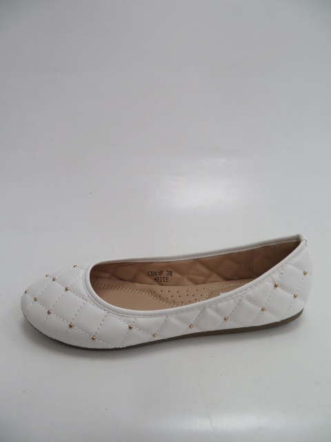 Baleriny Damskie  CD81, White, 36-41