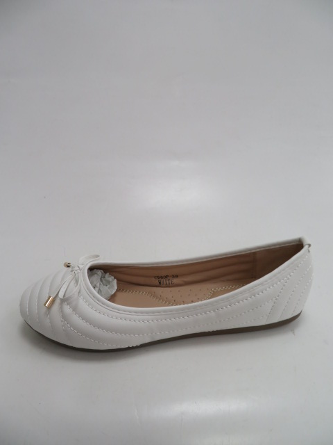 Baleriny Damskie  CD80, White, 36-41