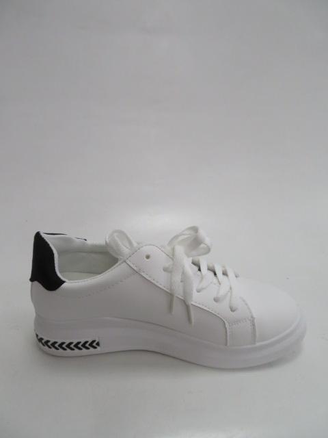 Sportowe Damskie LA129, White/Black, 36-41