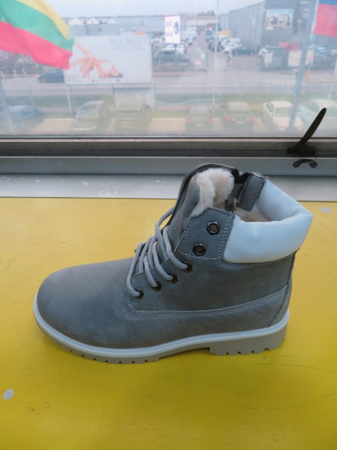 Botki Damskie K2-N6, New Grey/White, 36-41