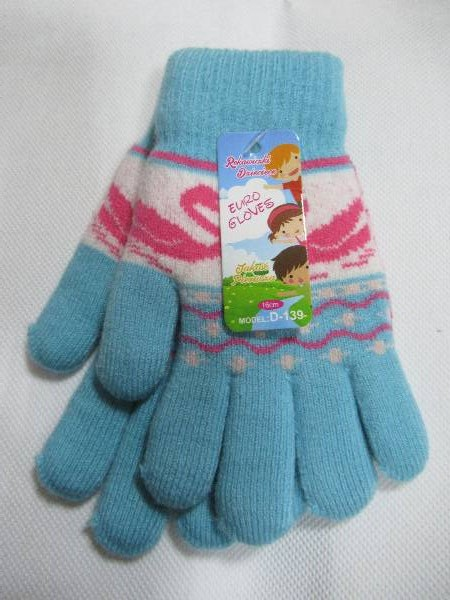 Rękawiczki Dziecięce D139 MIX KOLOR 16CM