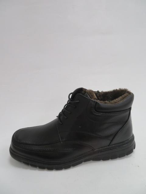 Trzewiki Męskie Zimowe E4556-1, Black, 40-46