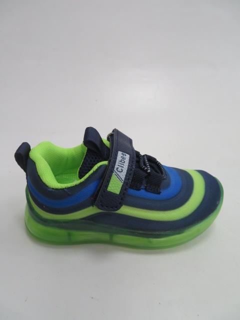 Buty Sportowe Dziecięce F920, Black/Green, 21-26