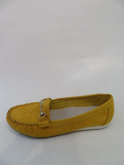 Mokasyny Damskie FL-618,Yellow, 36-40