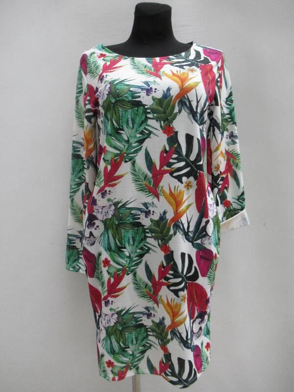 Sukienka Damska F5398 MIX WZÓR STANDARD  ( Produkt Włoski )