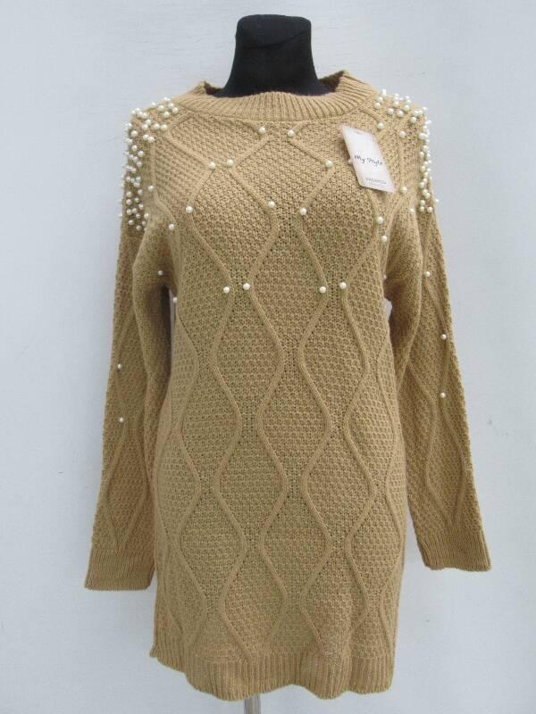 Sukienka Damska F5445 MIX KOLOR STANDARD ( Produkt Włoski )