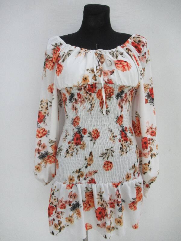 Sukienka Damska F5526 MIX WZÓR STANDARD ( Produkt Włoski )