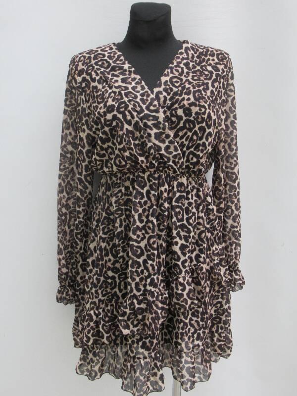 Sukienka Damska F5637 1 KOLOR STANDARD ( Produkt Włoski )