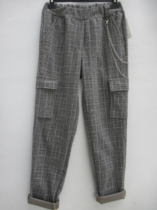 Spodnie Damskie F5717 1 KOLOR S-2XL( Produkt Włoski )