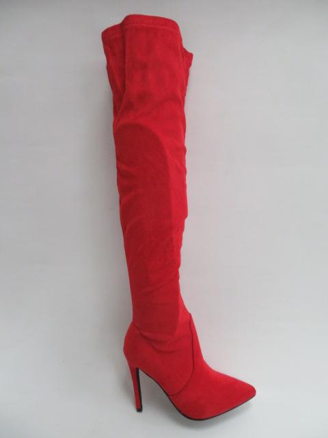 Kozaki Damskie 3804-8, Red, 36-41