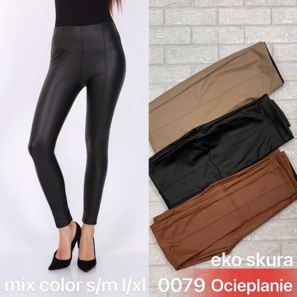 Spodnie Damskie 0079 MIX KOLOR S-XL (OCIEPLANE)EKO SKORA