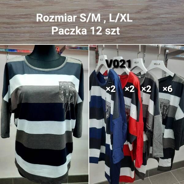 Bluzka Damska V021 MIX KOLOR S/M-L/XL