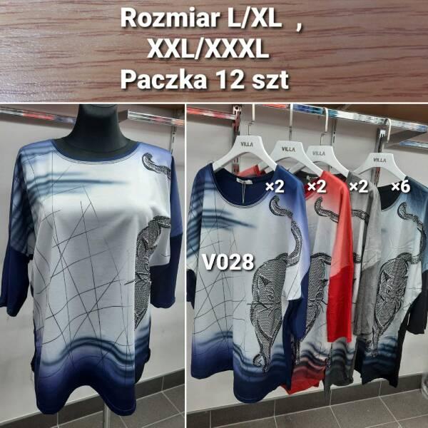 Bluzka Damska V028 MIX KOLOR S/M-L/XL