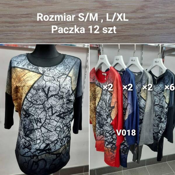 Bluzka Damska V018 MIX KOLOR S/M-L/XL