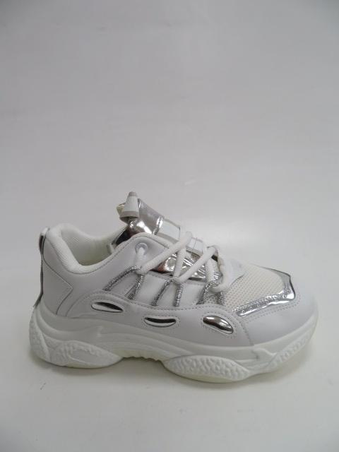 Sportowe Damskie AB682, White/Silver, 36-41 1