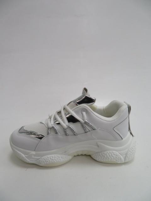 Sportowe Damskie AB682, White/Silver, 36-41 2
